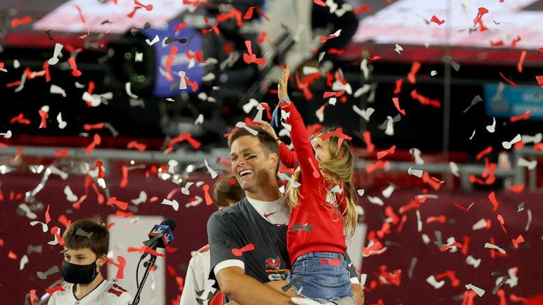 Tom Brady Celebrates Super Bowl LV Win With His Kids