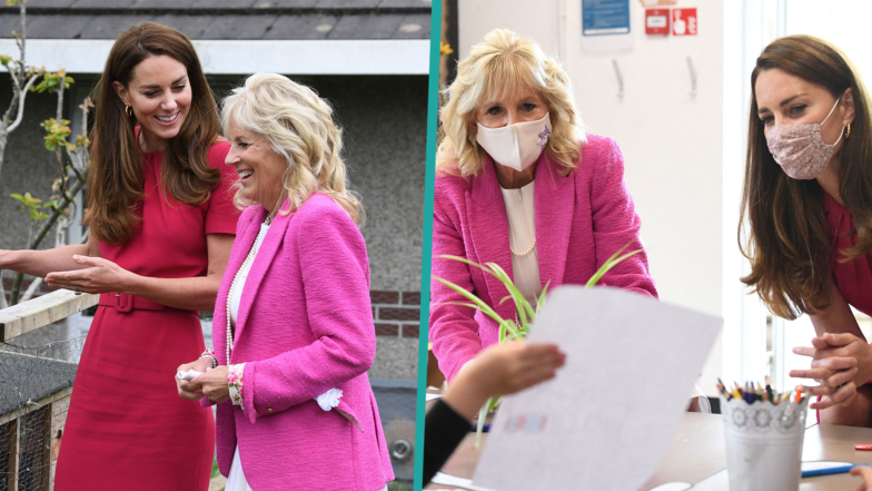 Kate Middleton & First Lady Dr. Jill Biden Are All Smiles At First Meeting
