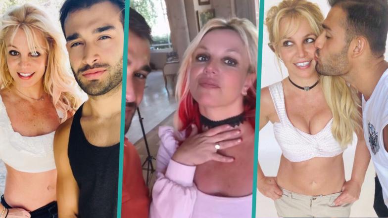 Britney Spears & Sam Asghari's Romance In Photos