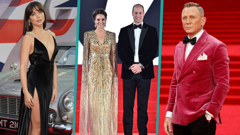 Kate Middleton & Prince William Join Celebrities For 'No Time To Die' Premiere In London